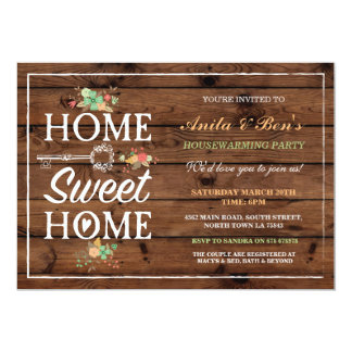 Home Sweet Home Floral Housewarming Invitation