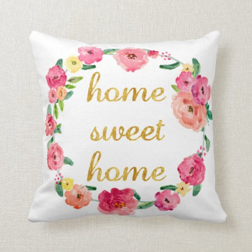 home sweet home | pretty throw pillows