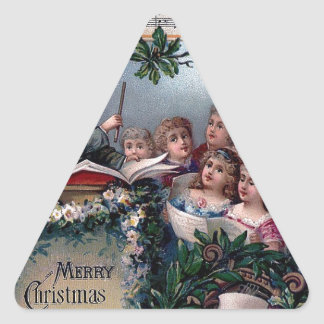Home Sweet Home for Christmas Triangle Sticker