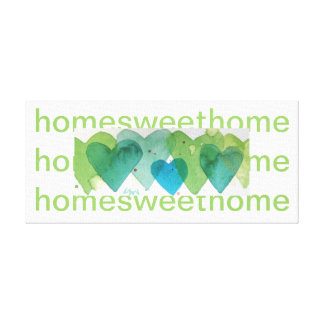 home sweet home hand painted design stretched canvas prints