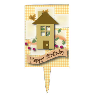 Home Sweet Home Happy Birthday Cake Topper