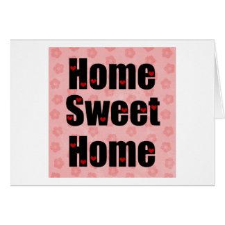 Home Sweet Home Heart Design Card