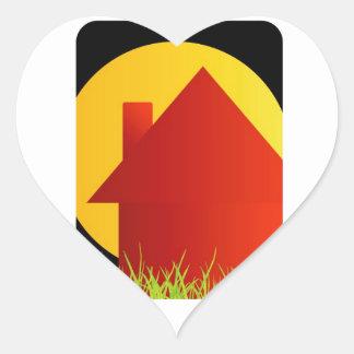 Home Sweet Home Heart Sticker