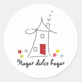 Home Sweet Home / Hogar Dulce Hogar Round Stickers