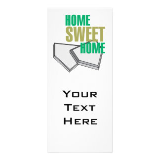 home sweet home home plate baseball design rack card