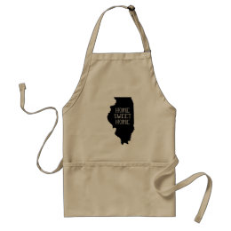 Home Sweet Home Illinois Adult Apron