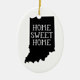 Home Sweet Home Indiana Ceramic Ornament