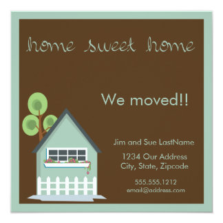 "home sweet home 5.25"" square invitation card"