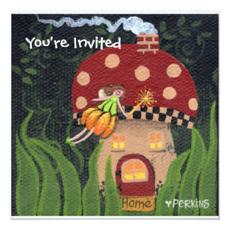 "Home Sweet Home Invitation 5.25"" Square Invitation Card"