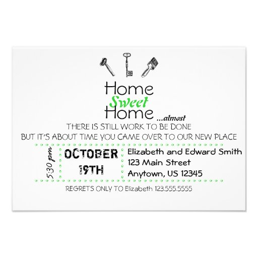 Home Sweet Home Invites