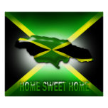 Home Sweet Home Jamaica Large Poster  Print