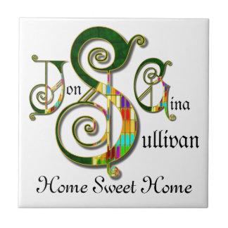 """""""Home Sweet Home"""" JSG Custom Monogram Tile"""