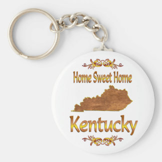 Home Sweet Home Kentucky Basic Round Button Keychain