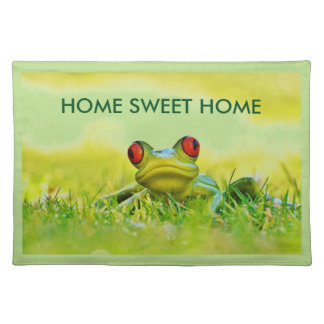 Home Sweet Home Kitchen Placemats With Frogs