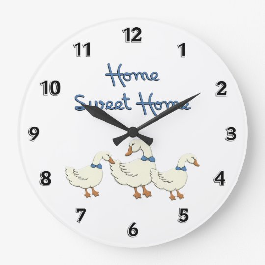 Home Sweet Home Large Clock