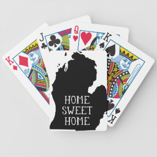 Home Sweet Home Michigan Bicycle Poker Deck
