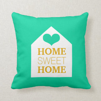 HOME SWEET HOME Mink & Mustard Yellow Pillow