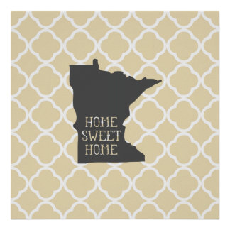 Home Sweet Home Minnesota Poster