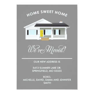 """HOME SWEET HOME   MOVING ANNOUNCEMENT 5"""" X 7"""" INVITATION CARD"""