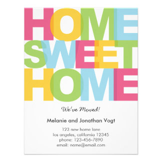 Home Sweet Home Moving Announcement Invite