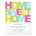 """Home Sweet Home Moving Announcement 4.25"""" X 5.5"""" Invitation Card"""