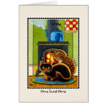 'Home Sweet Home' Moving House Cat Greetings Card