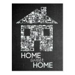 Home Sweet Home New Address Chalkboard Note Card Postcard
