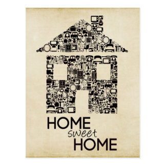 Home Sweet Home New Address Note Card Postcard
