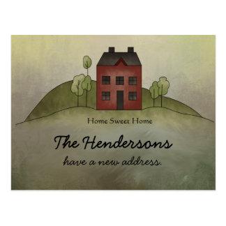 Home Sweet Home New Address Postcard