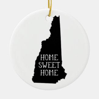 Home Sweet Home New Hampshire Ceramic Ornament