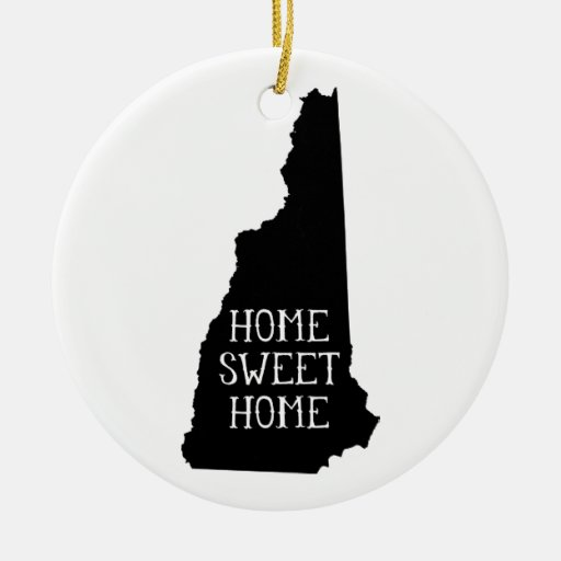Home Sweet Home New Hampshire Christmas Ornaments