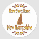Home Sweet Home New Hampshire Round Sticker