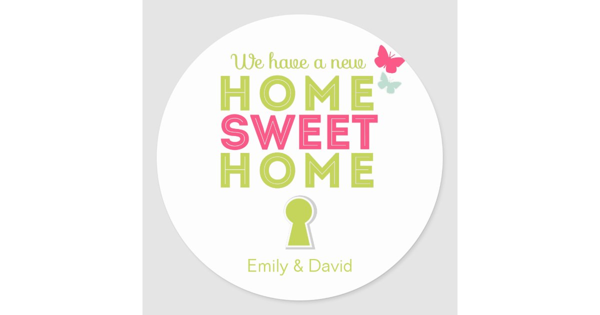 Home sweet home new home cupcake toppers sticker classic for New home cupcake decorations