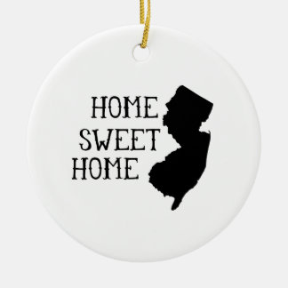 Home Sweet Home New Jersey Ceramic Ornament