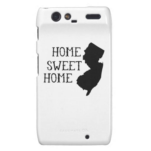 Home Sweet Home New Jersey Droid RAZR Cases