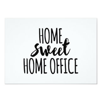 Home sweet home office card