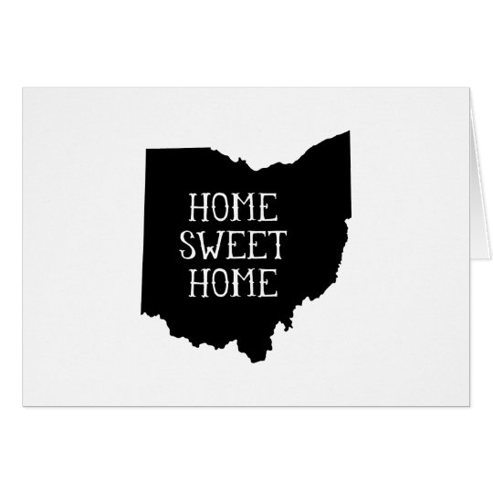 Home Sweet Home Ohio Card