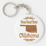 Home Sweet Home Oklahoma Keychains
