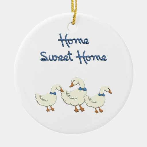 Home Sweet Home Double-Sided Ceramic Round Christmas Ornament