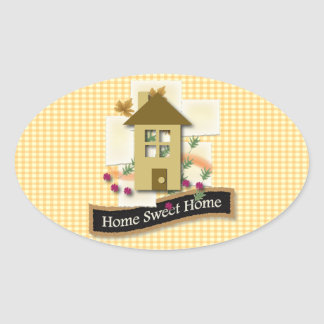 Home Sweet Home Oval Sticker