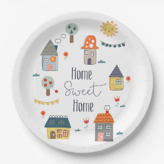 Home Sweet Home Paper Plate