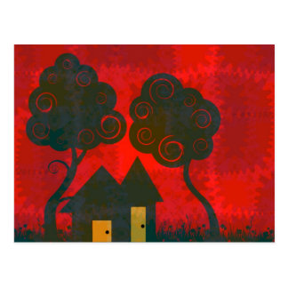 Home Sweet Home Patchwork Postcard