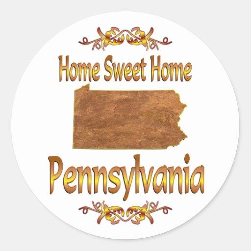 Home Sweet Home Pennsylvania Classic Round Sticker