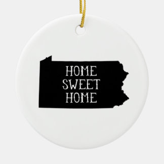 Home Sweet Home Pennsylvania Double-Sided Ceramic Round Christmas Ornament