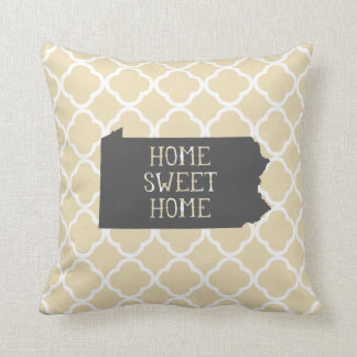 Home Sweet Home Pennsylvania Throw Pillow