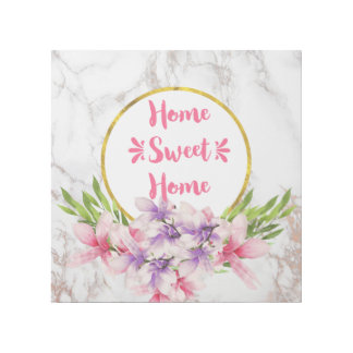 Home Sweet Home Pink Magnolias Gallery Wrap