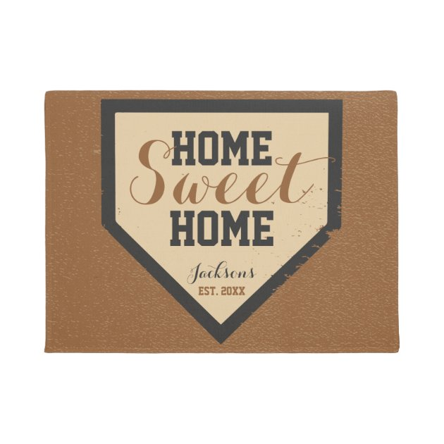 Home Sweet Home Plate Family Name Doormat Zazzle Com