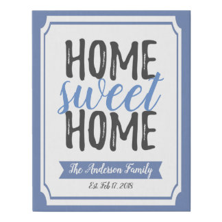 Home Sweet Home Poster Decor Canvas Wall Art Print