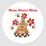 Home Sweet Home Round Stickers