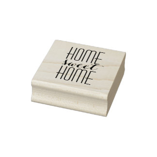 Home Sweet Home Rubber Stamp